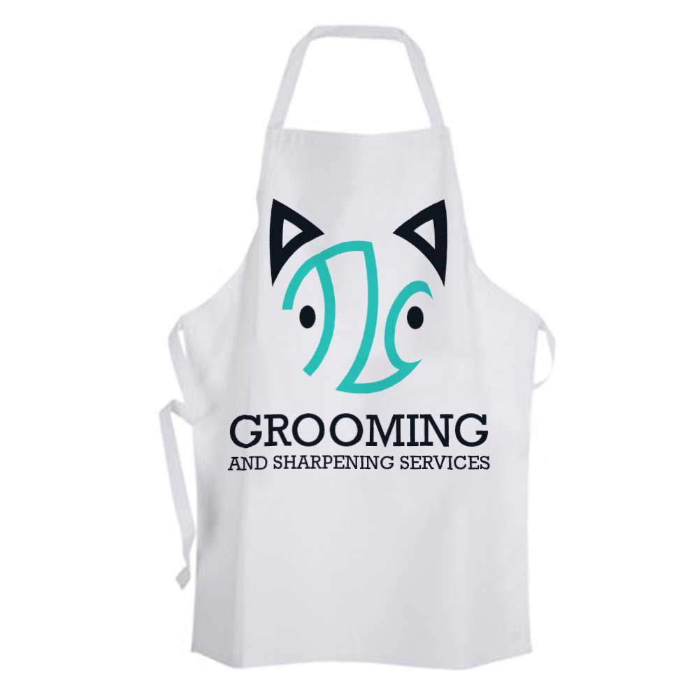 An example of how to incorporate the logo on an apron